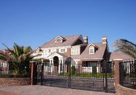 fenced home